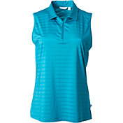 Lady Hagen Women's Paradise Satin Stripe Sleeveless Golf Polo