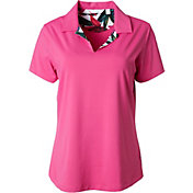 Lady Hagen Women's Paradise Found Collection Floral Face Golf Polo - Extended Sizes