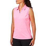Lady Hagen Women's Serenity Collection Zipper Placket Sleeveless Golf Polo