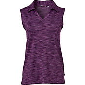 Lady Hagen Women's Essentials Space Dye Sleeveless Golf Polo