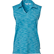 Lady Hagen Women's Essentials Space Dye Sleeveless Golf Polo