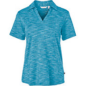 Lady Hagen Women's Essentials Space Dye Golf Polo – Plus Size