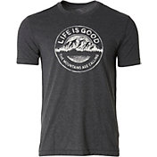 Life is Good Men's Mountains Calling Cool T-Shirt