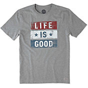 Life is Good Men's Stars Stripes Crusher T-Shirt