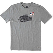Life is Good Men's Truck Flag Crusher T-Shirt