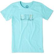 Life is Good Women's Beach Chairs Crusher T-Shirt