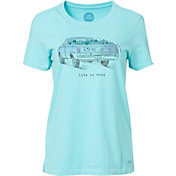 Life is Good Women's Flower Truck Crusher T-Shirt