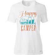 Life is Good Women's Happy Camper Crusher T-Shirt
