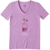 Life is Good Women's Good Day Crusher Vee T-Shirt