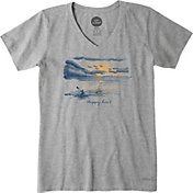 Life is Good Women's Kayak Crusher Vee T-Shirt
