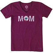 Life is Good Women's Mom Daisy Crusher Vee T-Shirt