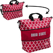 Ohio State Buckeyes Quatrefoil Expandable Tote