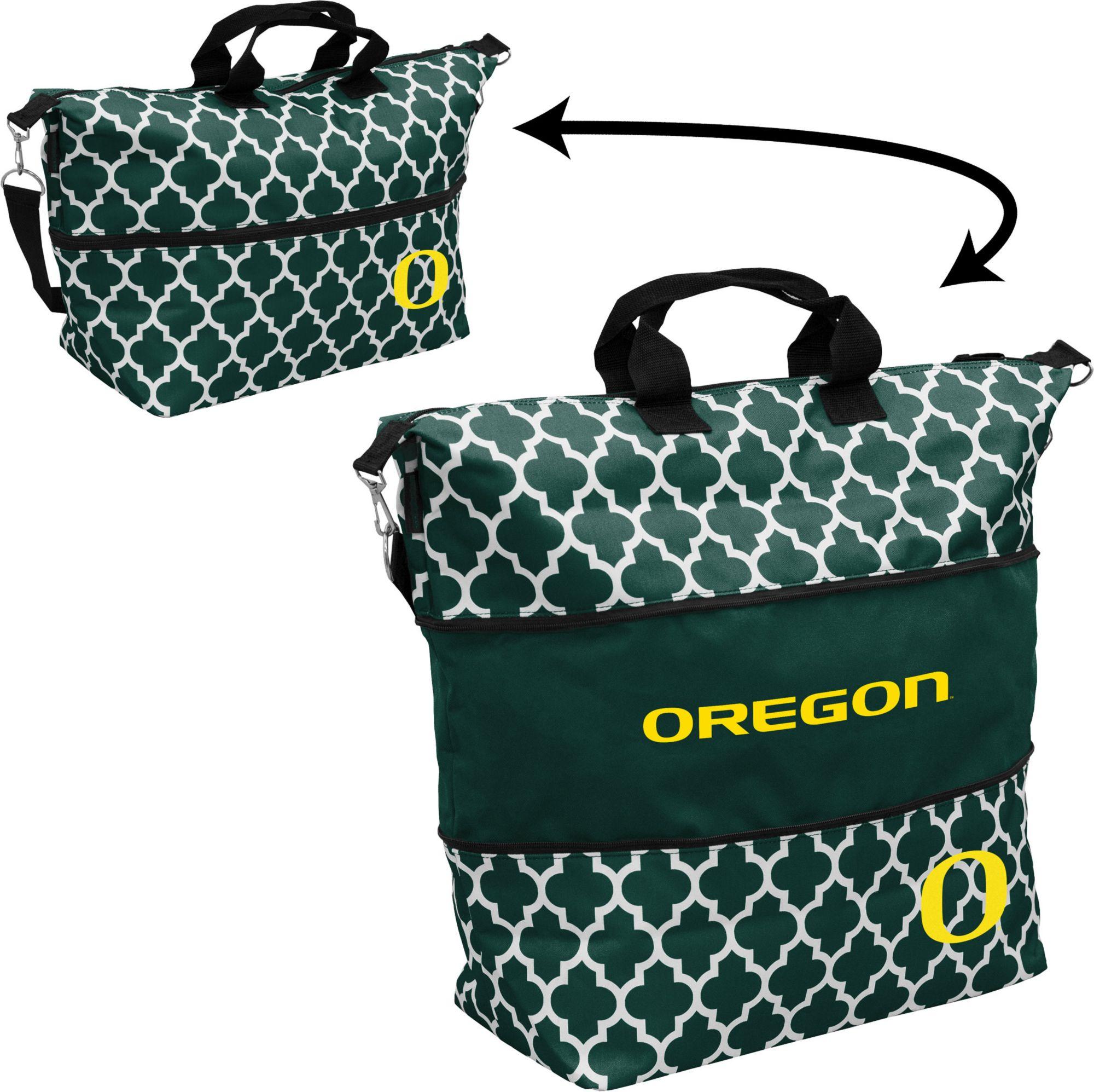 Oregon Ducks Quatrefoil Expandable Tote, Women's, Team thumbnail