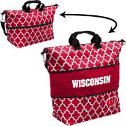 Wisconsin Badgers Quatrefoil Expandable Tote