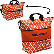 Denver Broncos Quatrefoil Expandable Tote