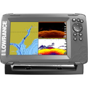 Lowrance HOOK2-7 SplitShot GPS Fish Finder with US/CAN NAV+ Bundle