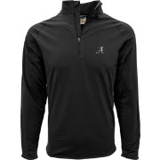 Levelwear Men's Alabama Crimson Tide Black Metro Quarter-Zip Pullover