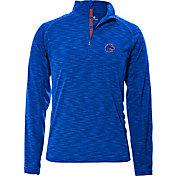 Levelwear Men's Boise State Broncos Blue Mobility Quarter-Zip Long Sleeve Shirt