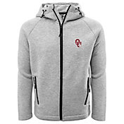 Levelwear Men's Oklahoma Sooners Grey Titan Full-Zip Jacket