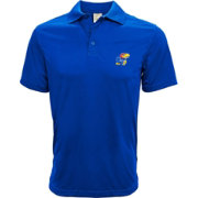 Levelwear Men's Kansas Jayhawks Blue Helium Polo