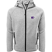 Levelwear Men's Kansas State Wildcats Grey Titan Full-Zip Jacket