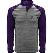 Levelwear Men's Kansas State Wildcats Grey Vandal Quarter-Zip Shirt