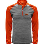 Levelwear Men's Oklahoma State Cowboys Grey Vandal Quarter-Zip Shirt