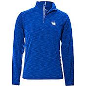 Levelwear Men's Kentucky Wildcats Blue Mobility Long Sleeve Quarter-Zip Shirt