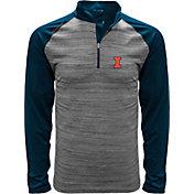 Levelwear Men's Illinois Fighting Illini Grey Vandal Quarter-Zip Shirt