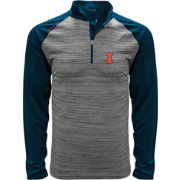 Levelwear Men's Illinois Fighting Illini Grey Vandal Quarter-Zip Shirt