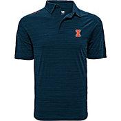 Levelwear Men's Illinois Fighting Illini Blue Sway Polo