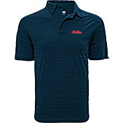 Levelwear Men's Ole Miss Rebels Blue Sway Polo