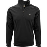 Levelwear Men's LSU Tigers Black Metro Quarter-Zip Pullover