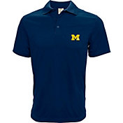 Levelwear Men's Michigan Wolverines Blue Helium Polo