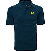 Levelwear Men's Michigan Wolverines Blue Sway Polo