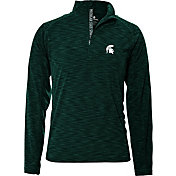 Levelwear Men's Michigan State Spartans Green Mobility Quarter-Zip Long Sleeve Shirt