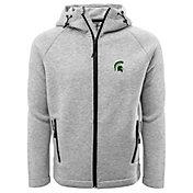 Levelwear Men's Michigan State Spartans Grey Titan Full-Zip Jacket