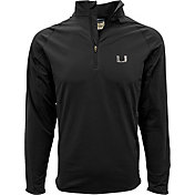 Levelwear Men's Miami Hurricanes Black Metro Quarter-Zip Pullover