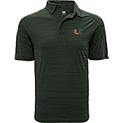 Levelwear Men's Miami Hurricanes Green Sway Polo