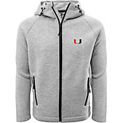 Levelwear Men's Miami Hurricanes Grey Titan Full-Zip Jacket