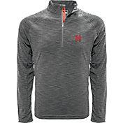 Levelwear Men's Maryland Terrapins Grey Mobility Quarter-Zip Long Sleeve Shirt
