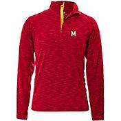 Levelwear Men's Maryland Terrapins Red Mobility Long Sleeve Quarter-Zip Shirt