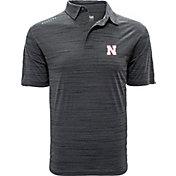 Levelwear Men's Nebraska Cornhuskers Grey Sway Polo