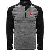 Levelwear Men's Nebraska Cornhuskers Grey Vandal Quarter-Zip Shirt