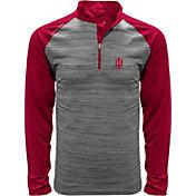 Levelwear Men's Indiana Hoosiers Grey Vandal Quarter-Zip Shirt