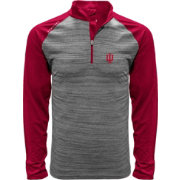 Levelwear Men's Indiana Hoosiers Grey Vandal Quarter-Zip Shirt