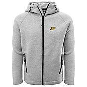 Levelwear Men's Purdue Boilermakers Grey Titan Full-Zip Jacket