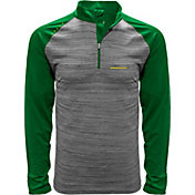 Levelwear Men's Oregon Ducks Grey Vandal Quarter-Zip Shirt