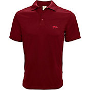 Levelwear Men's Arkansas Razorbacks Cardinal Helium Polo