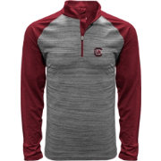 Levelwear Men's South Carolina Gamecocks Grey Vandal Quarter-Zip Shirt